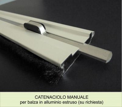 Catenacio balza avvolgibile alluminio